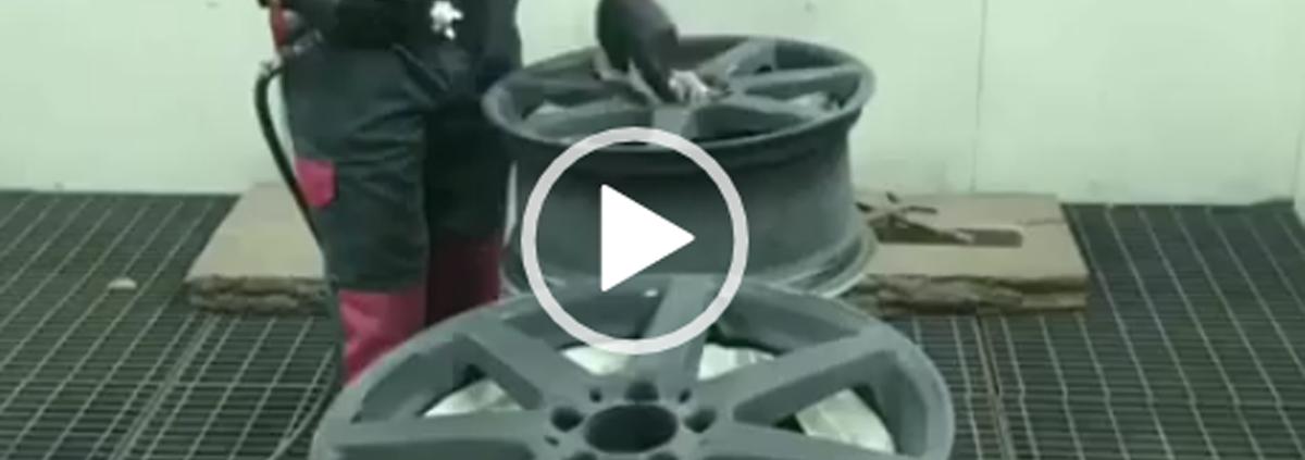 Покраска литых дисков. Видео