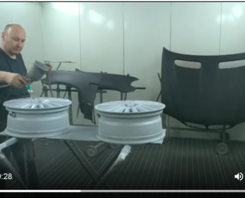 Покраска колесных дисков в камере