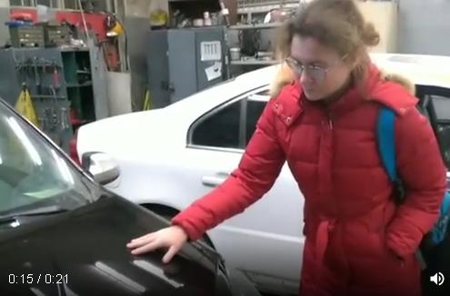 Видео-отзыв клиента о работе мастеров автосервиса